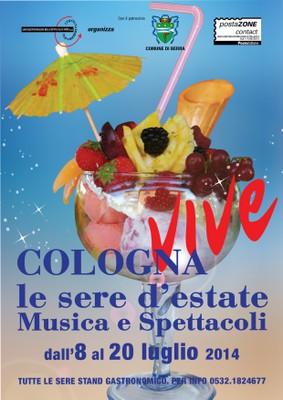 Locandina Cologna vive le sere d'estate 2014